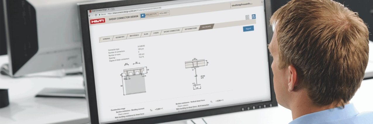Hilti Shear Connector Design Software
